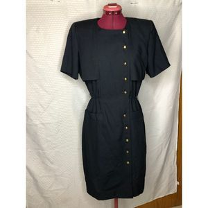 Leslie Fay 80s architectural body con dress